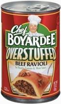 Chef Boyardee, Big Beef Ravioli, Overstuffed, 15oz Can Pack of 6