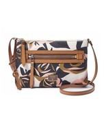 Fossil Dawson Floral Fabric Crossbody Leather - $83.41 CAD