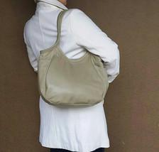 Sand Leather Tote Bag, Fashion Bags, Everyday Tote, Shoulder Handbag, Amelia - $133.50