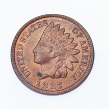 1887 1C Indian Head Cent BU Condition, Red/Brown Color, Excellent Eye Ap... - $133.55