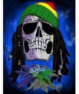 "Ardras Art ""Rasta Skull"" Silk Touch Throw Blanket - $24.99"