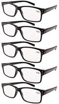 Eyekepper 5-pack Spring Hinges Vintage Reading Glasses Men Readers Black +1.5 - $26.99