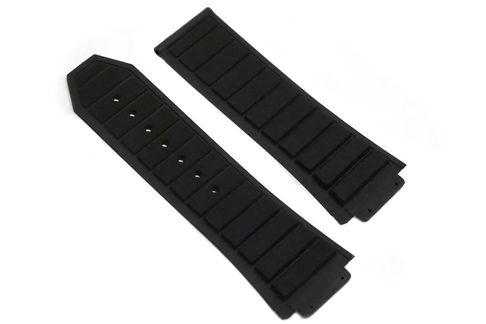 24mm Rubber Strap Band Deployment For H Hublot 44-45mm King Power Black