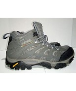 MERRELL Moab Mid Gore-Tex Grey Periwinkle Women's 10.5 Hiking Outdoor Bo... - $46.58