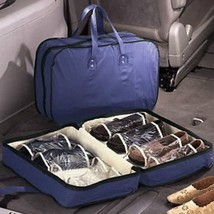 Shoe shoes Travel Storage Holder Case organizer Clear compartments Folds... - $17.77
