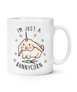 I'm Just Bunnycorn 10 oz Unicorn Cup Unicorn Rabbit Funny Ceramic Cerami... - $7.99