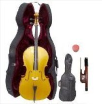 Lucky Gifts 1/4 Size GOLD Cello with Hard Case,Soft Carrying Bag,Bow  - $199.99
