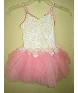 PINK Ruffled Ballerina Outfit Dance Leo Costume Tutu M Child Size 7/8 We... - $15.79