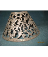 Vintage  pierced metal shade  with dragons  - $20.00