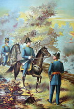US ARMY in 1835 General Officers on Horses - COLOR Litho Print - $13.49