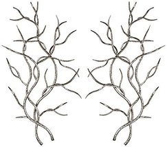 """Uttermost 04053 Silver Branches - 37"""" Wall Dcor (Set of 2), Bright Silver Leaf F - $305.80"""