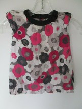 Old Navy Baby Girl's Size 6-12 Months Short Sleeve Pink & Black Floral D... - $20.00