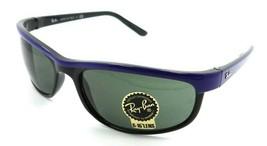 Ray-Ban Sunglasses RB 2027 6301 62-19-130 Predator 2 Blue on Black / Green Italy - $118.19