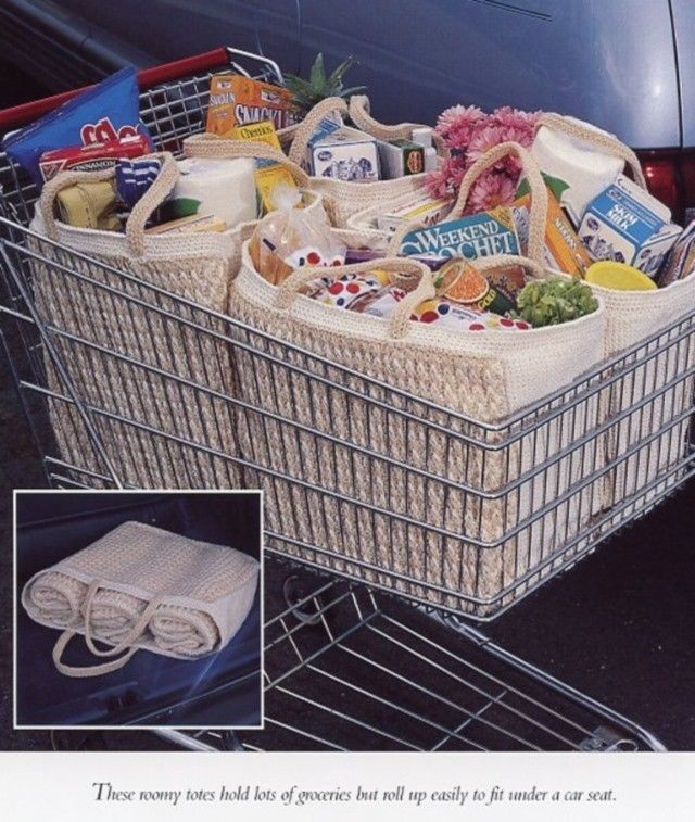 Enviro-Totes Shopping Bag Vanna Crochet PATTERN/INSTRUCTIONS NEW