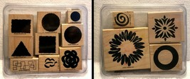 STAMPIN' UP! Various Shapes 1999-2004 2 Boxes 13 Stamps Mixed Lot Used and NEW - $11.75