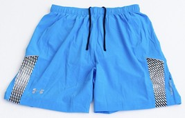 "Under Armour Launch Run 7"" Blue Brief Lined Stretch Running Shorts Men's... - $48.74"