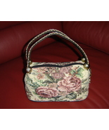 Vintage Cream Brocade Tapestry Purse Or Handbag... - $24.30
