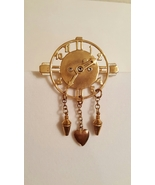 Vintage Art Deco Steampunk Movable Clock Brooch Pin  - $45.00
