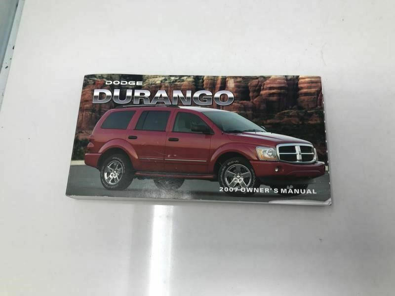 2007 Dodge Durango Owners Manual Case Handbook OEM Z0A115 image 5