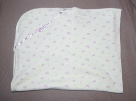Little Me Baby Girl Blanket Thin Cotton 1-ply Pink Rose Flowers - $23.75