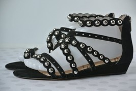 NEW Sam Edelman Dustee Womens 8.5 M Black Suede Studded Gladiator Sandal... - $37.61