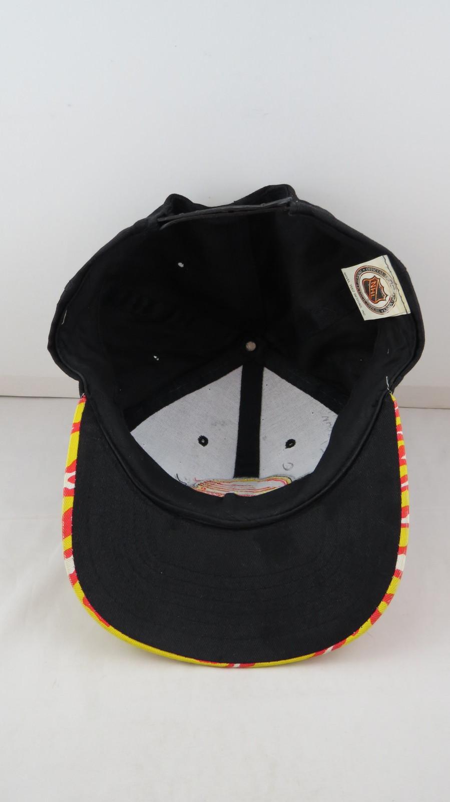 Vancouver Canucks Hat (VTG) - Zubaz Brim  Black Body - Adult Snapback