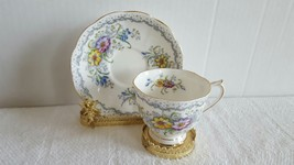 Royal Albert Bone China Colorful Flower Bouquet Tea Cup and Saucer EUC S... - $19.99