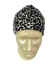 Leopard Print Fleece Chemo Cap Headcover Hat Wrap One Size New - $12.71