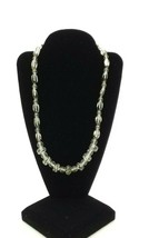 Vintage Clear and Black Beaded Lucite Necklace - $15.90