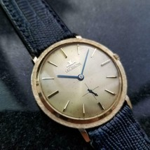 LECOULTRE Men's 14K Gold Manual Hand-Wind Dress Watch, c.1960s Swiss MS2... - $2,352.00