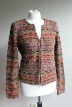 Talbots MP Multicolor Stripe Boucle Knit Cardigan Sweater - $24.70