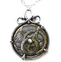 Anguistralobe Astrolabe Steampunk Pendant Pewter & Brass by Alchemy Empi... - $38.95