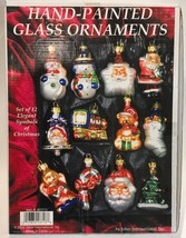 12 Hand Painted Blown Glass Christmas Ornaments 2002 IOB - $23.99