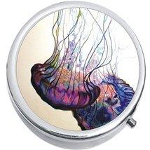 Colorful Jellyfish Medicine Vitamin Compact Pill Box - $9.78