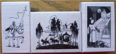 LOT 3 BRAND NEW RUBBER STAMPS ~ KNIGHTS