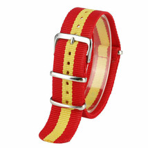 20mm X 255mm Nato Canvas Nylon wrist watch Band strap RED YELLOW P2 - $10.42