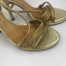 Nina Gold Strappy sandals 3 in heels Size 8 - $21.78