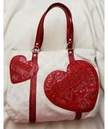 COACH COLLECTORS POPPY SIGNATURE HEART GLAM TOTE SHOULDER HANDBAG PURSE ... - $148.50