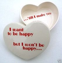 1970s Fitz & Floyd HAPPY HEART SAYINGS Porcelain DISH - $24.99