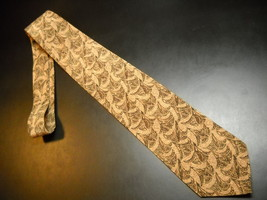 Joseph Abboud Designed By Neck Tie Speckled Browns Greens Silk Made in Italy - $12.99