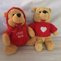 Disney Winnie the Pooh Valentine's Day Holiday Bean Bag Plush Love Bug 2000 - $34.64