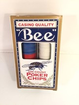 Bee Casino Quality Poker Chips 100 Count US Playing Card Assoc Texas Hol... - $19.79
