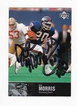 Joe Morris Autographed Card 1997 Upper Deck New York Giants - $5.88