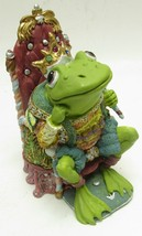1996 King Ribbit Camelot Frogs Sculpture Hamilton Collection -N4 - £12.03 GBP