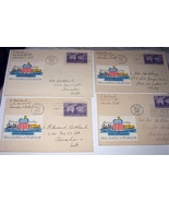4-1944 FDCs UNION PACIFIC Diamond Anniversary Golden Spike  - $22.00