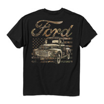 New FORD 49 CAMO FLAG T SHIRT POWERED BY FORD - £13.67 GBP+