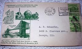 1934 CACHET-CENTENARY Of City Of Brooklyn,Ny - $18.00