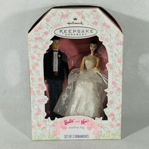 BARBIE AND KEN WEDDING DAY HALLMARK KEEPSAKE ORNAMENT NIB 1997 - $12.37