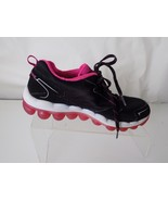SKECHERS-AIR, LEATHER & CLOTH, BLACK & HOT PINK, ATHLETIC SHOES, WOMENS ... - $31.67