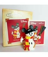 "Hallmark Keepsake Ornament ""Snow Sculpture"" Mickey Mouse Snowman 2004 NIB - $15.79"